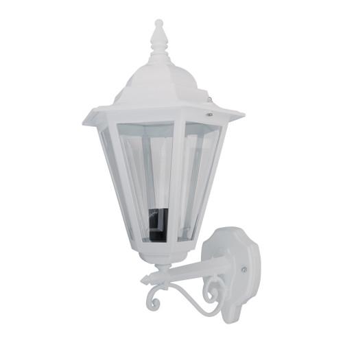 Tortona Acrylic White Straight Arm Upward Outdoor Lantern Wall Light