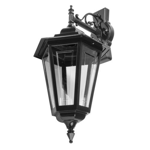 Tortona Acrylic Black Downward Outdoor Lantern Wall Light