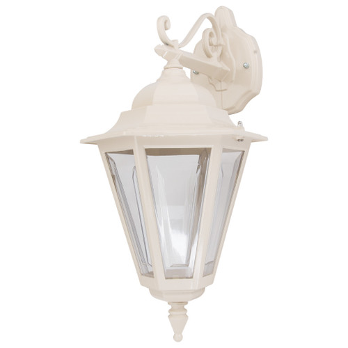 Tortona 2 Acrylic Beige Downward Outdoor Lantern Wall Light