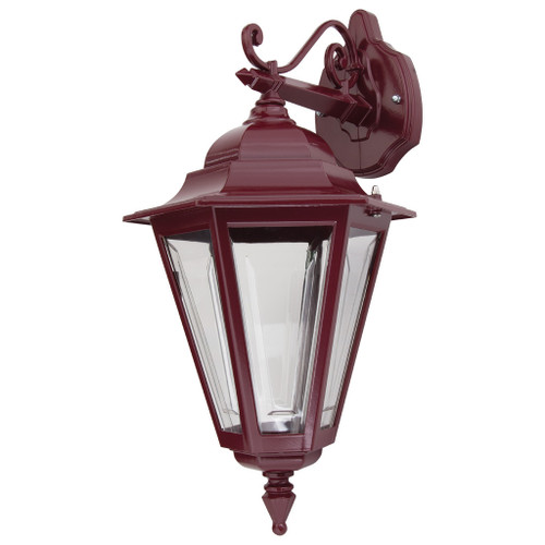 Tortona 2 Acrylic Burgundy Downward Outdoor Lantern Wall Light