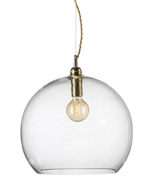 Rowan Dome Clear Glass Gold Pendant Light