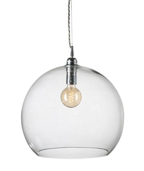 Rowan Dome Clear Glass Silver Pendant Light