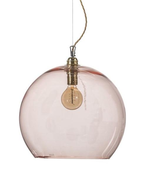 Rowan Dome Bright Coral Glass Pendant Light