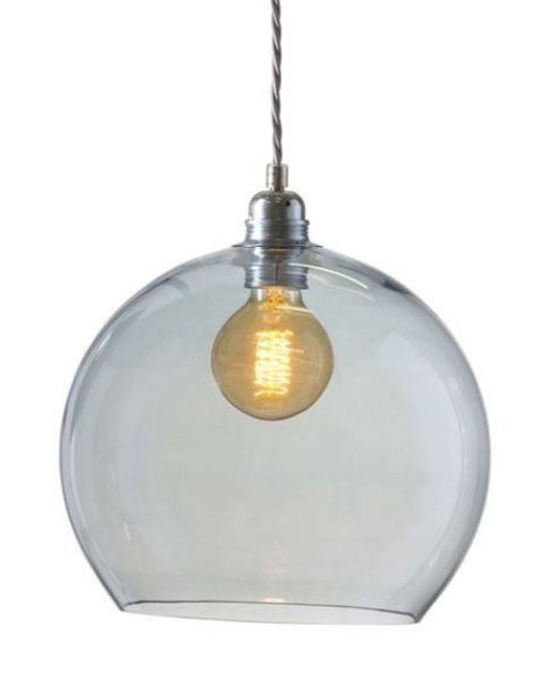 Rowan Dome Topaz Blue Glass Pendant Light