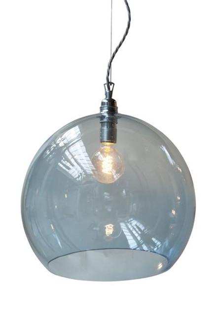 Rowan Dome Deep Blue Glass Pendant Light