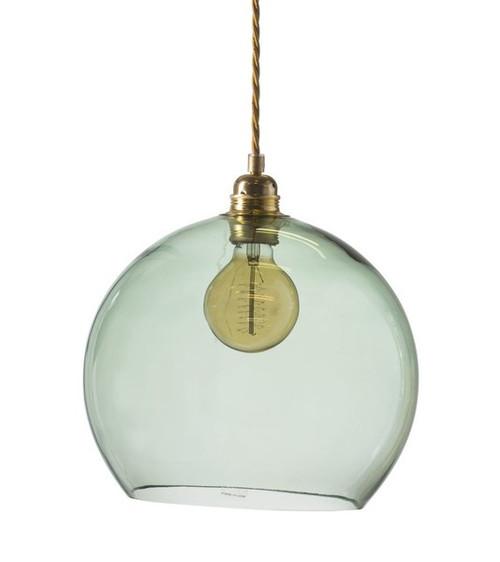 Rowan Dome Forest Green Glass Pendant Light
