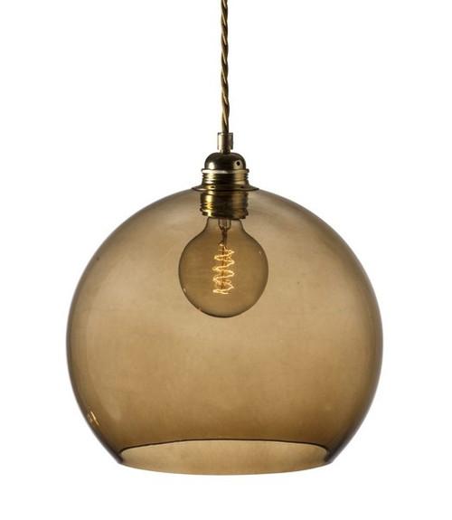Rowan Dome Chestnut Brown Glass Pendant Light