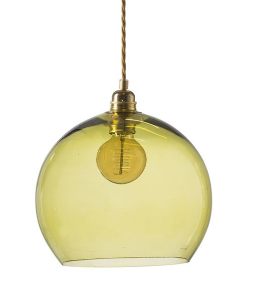Rowan Dome Olive Glass Pendant Light