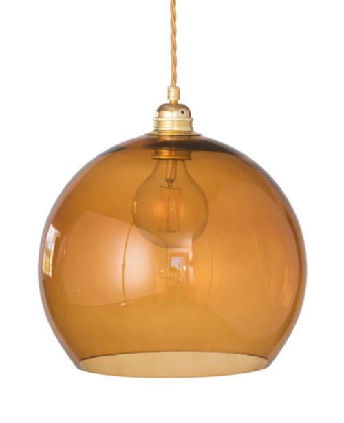Rowan Dome Toast Glass Pendant Light