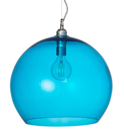 Rowan Dome Pool Blue Glass Pendant Light