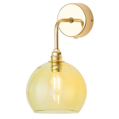 Rowan Dome Olive Glass Wall Light
