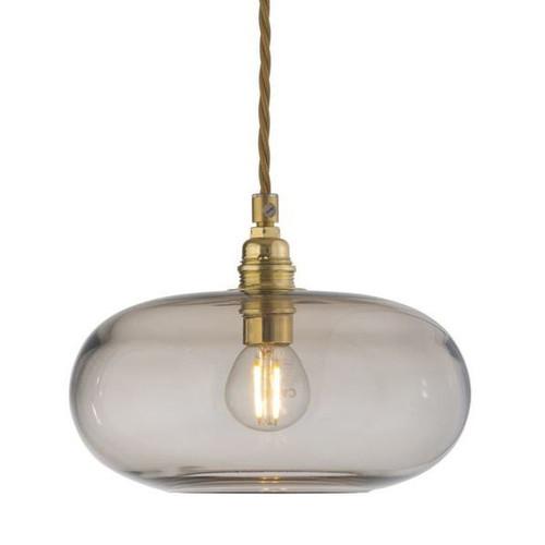 Horizon Chestnut Brown Glass Pendant Light - Small