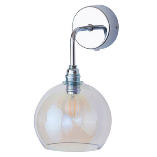 Rowan Dome Chameleon Glass with Silver Wall Light