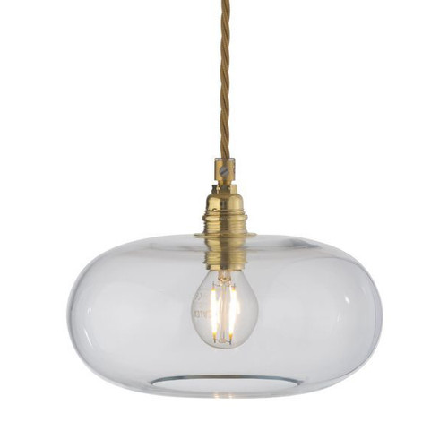 Horizon Clear Glass with Gold Pendant Light
