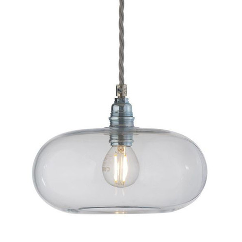 Horizon Clear Glass with Silver Pendant Light