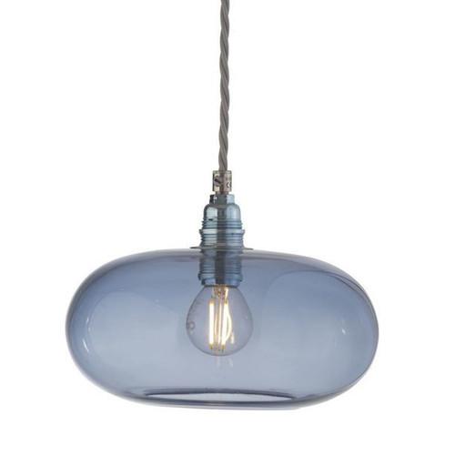 Horizon Deep Blue Glass Pendant Light - Small