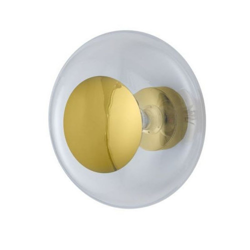 Horizon Clear Glass with Gold Ceiling/Wall Light