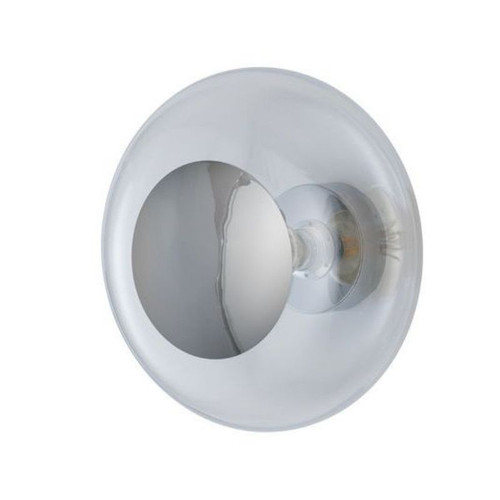 Horizon Clear Glass with Silver Ceiling/Wall Light
