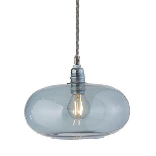Horizon Topaz Blue Glass Pendant Light - Small