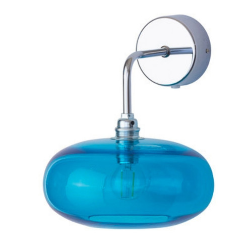 Horizon Pool Blue Glass Wall Light
