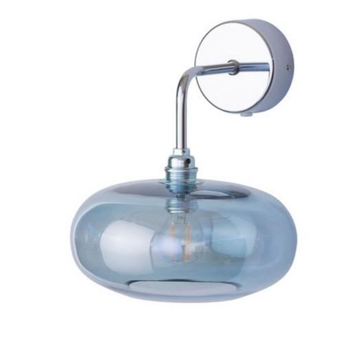Horizon Topaz Blue Glass Wall Light