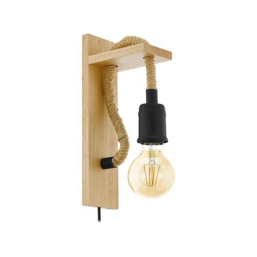 Rampside Wooden Industrial Wall light