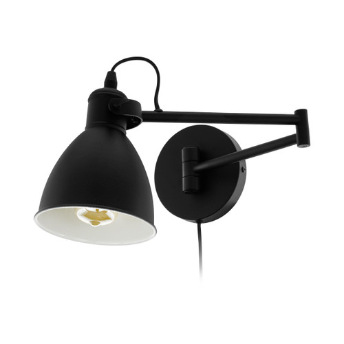 San Peri Black Adjustable Industrial Wall Light