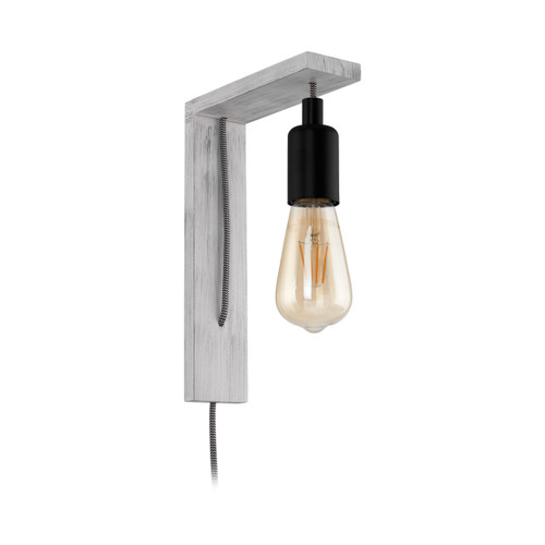 Tocopilla White Patina Wooden Wall Light