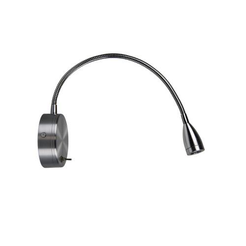 Finley Adjustable Brushed Aluminum Wall Light
