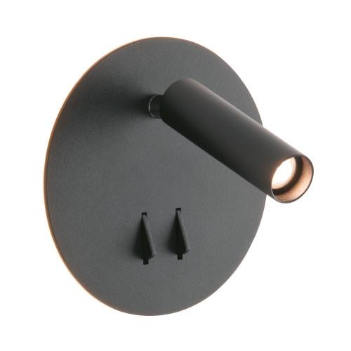 Odyn Matt Black Spot Wall Light