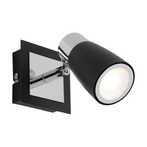 Aidan Black Spotlight with Switch Wall Light