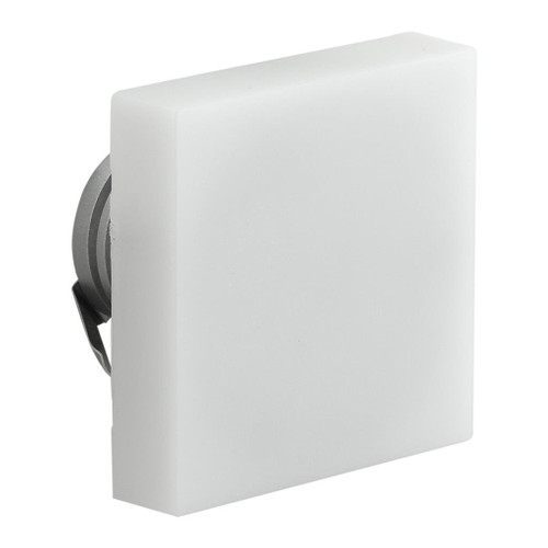 Semi Recessed Square Frosted Fascia LED Step Light