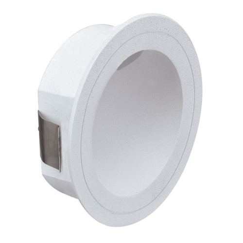 You Round White Recessed LED Step Light