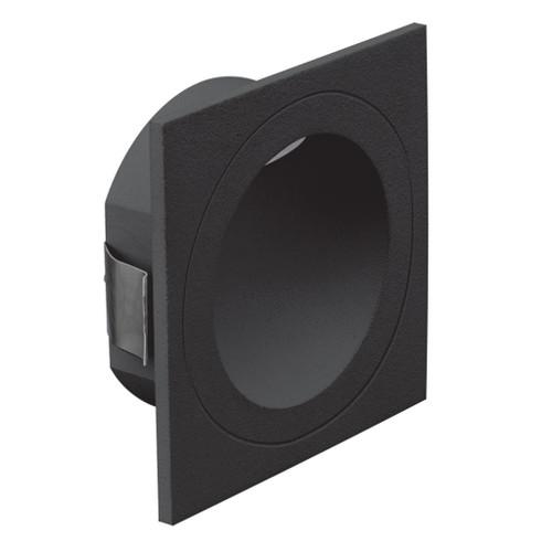 You Square Black Recessed LED Step Light