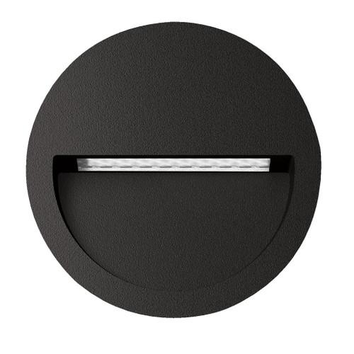 Zeth Round Black 12V Recessed LED Step Light