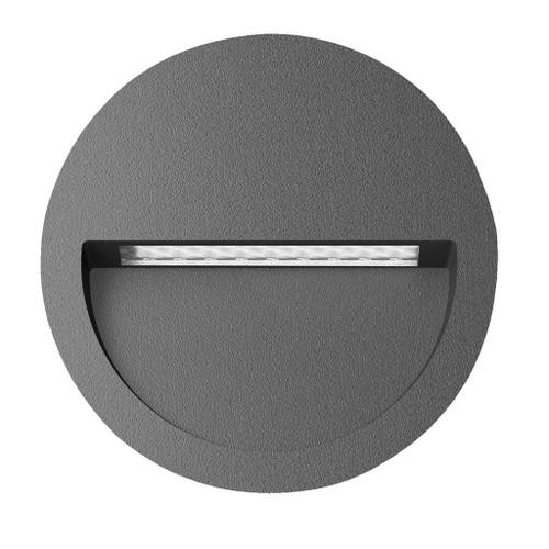 Zeth Round Dark Grey 12V Recessed LED Step Light