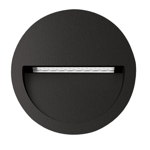 Zeth Round Black 240V Recessed LED Step Light