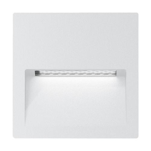 Zeth Square White 12V Recessed LED Step Light