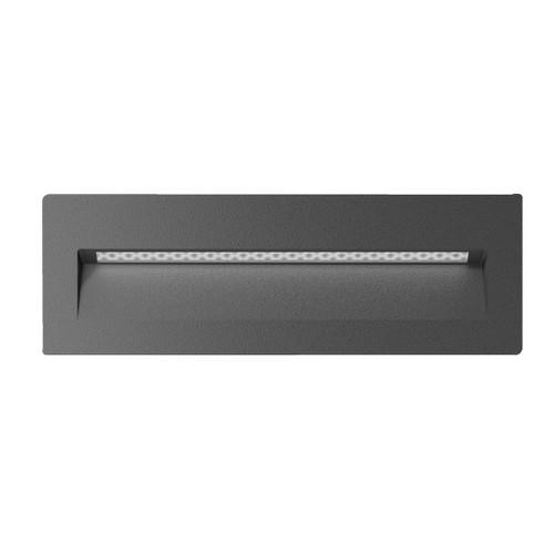Zeth Long Dark Grey Recessed LED Step Light