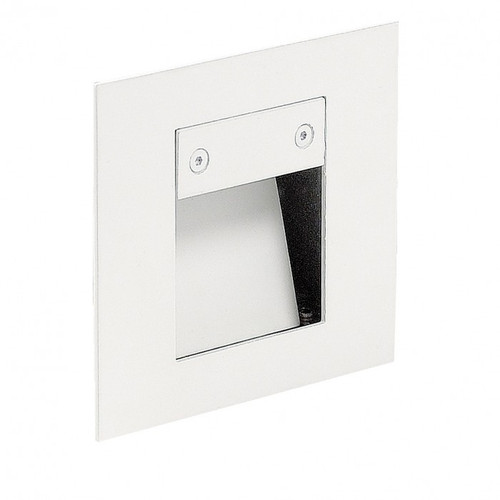 Recessed Square White LED Deflector Step Light