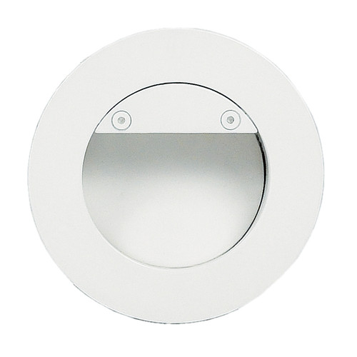 Recessed Round White LED Deflector Step Light