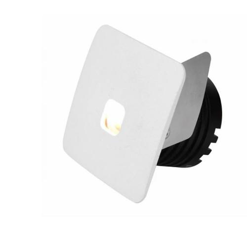 Jazz Square White Cree LED Recessed Step Light