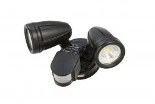 Melo 2 Light Black Adjustable LED Security Light with Sensor