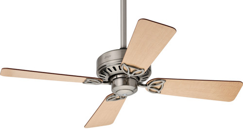 """Bayport 42"""" Brushed Nickel with Maple/Cherry Blades Ceiling Fan"""