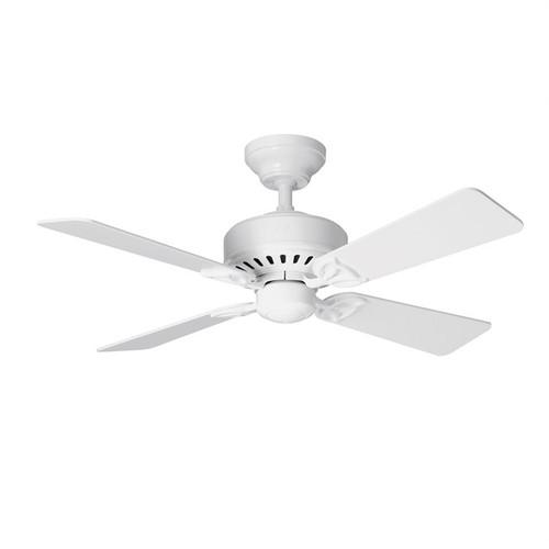 "Bayport 42"" White with White/Light Oak Blades Ceiling Fan"