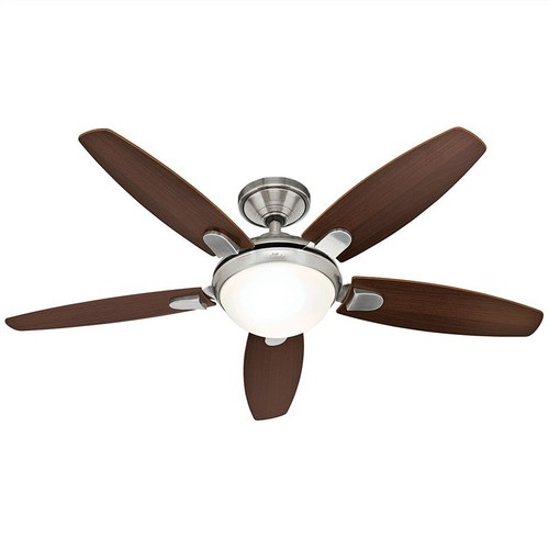 """Contempo 52"""" Brushed Nickel with Dark Walnut/English Cherry Blades Ceiling Fan"""