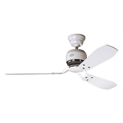 """Industrie II 52"""" White with White Maple Blades Ceiling Fan"""