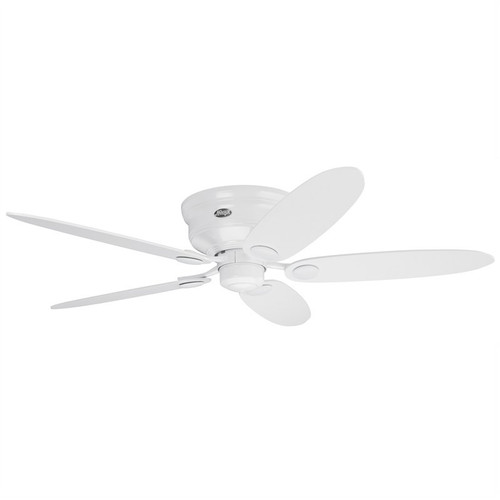 """Low Profile III 44"""" & 52"""" White with White/Maple Switch Blades Ceiling Fan"""