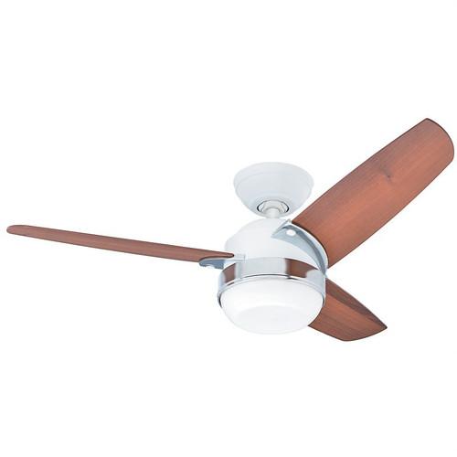 "Nova 42"" White with Light Brown/Walnut Switch Blades Ceiling Fan"