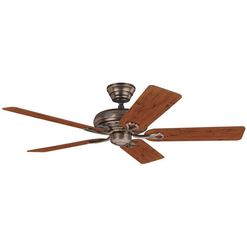 """Savoy 52"""" Amber Bronze with Distressed Cherry/Mahogany Blades Ceiling Fan"""